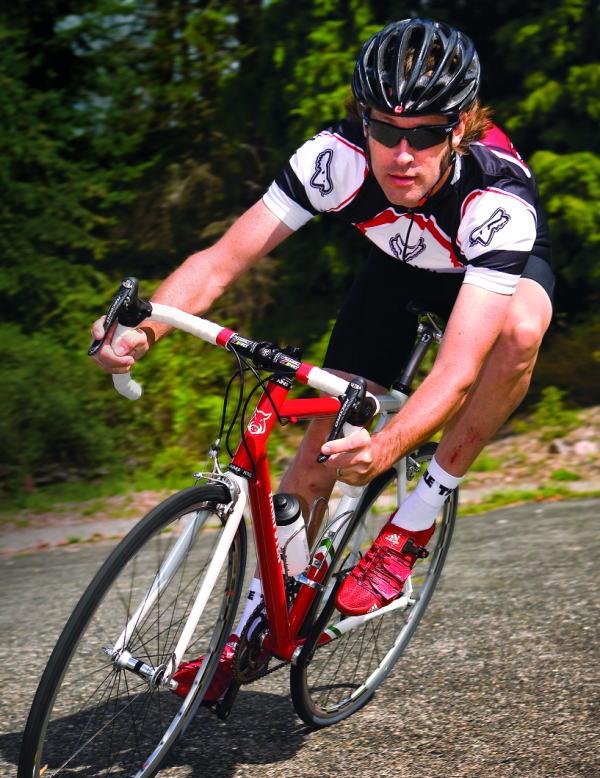 Hampsten Cycles Gran Paradiso Road Bike Action