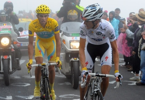Video: Alberto Contador Dropping Andy Schleck on a Balance Bike