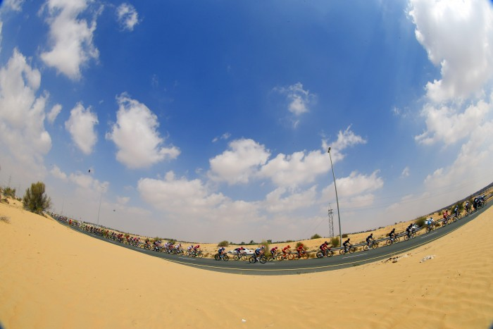 The desert landscape of Dubai is one of the most unique on the WorldTour circuit.