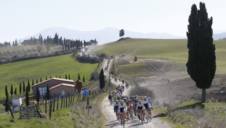 The Tuscan countryside has become a hallmark of Strade Bianche.