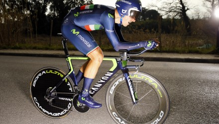 Movistar's Adriano Malori won the opening time trial at the 2015 Tirreno-Adriatico.