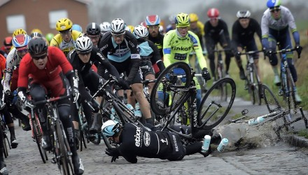 There were plenty of crashes throughout Gent-Wevelgem.