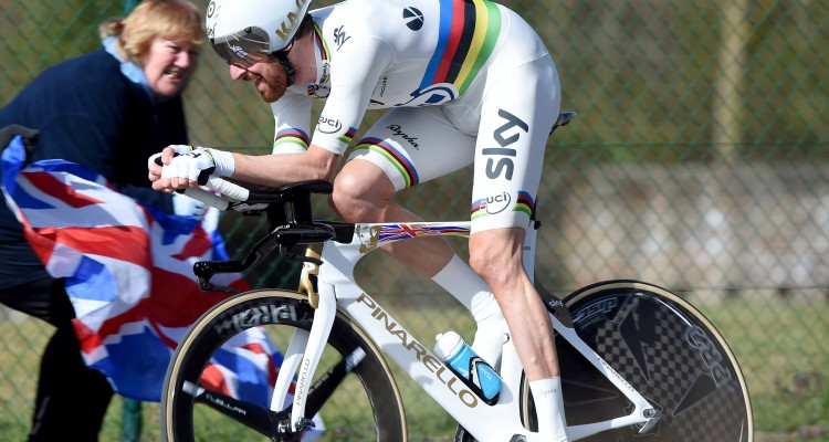 World Time Trial Champion, Bradley Wiggins, won the final TT stage of the Three Days of De Panne.