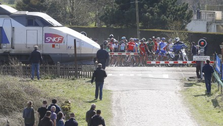 Controversy reared its ugly head when several riders rolled through a train crossing only moments before a train sped by.