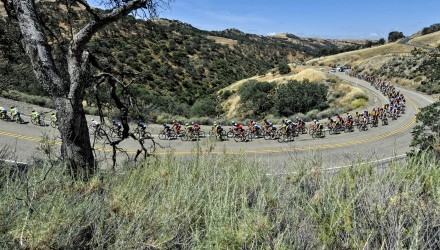 The rolling hills of California make for exciting racing, especially when a breakaway gets a huge gap on the peloton, which is what happened on Stage 3.