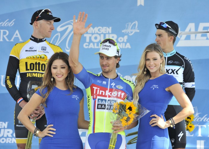 Peter Sagan took first, while Lotto-NL Jumbo's Jos van Emden took second, and Etixx-Quick-Step's Julian Alaphilippe finished third.
