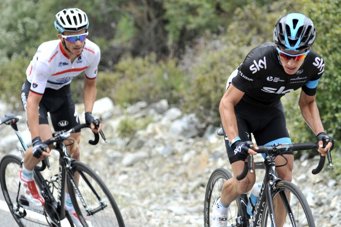 When the road kicked up in the final few kilometers, two riders emerged as clear favorites on the day: Etixx-Quick-Step's Julian Alaphilippe and Sky's Sergio Henao.