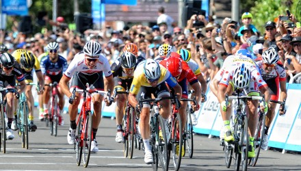 Just like on Stage 1, Stage 2 resulted in a sprint finish. And, yet again, Mark Cavendish took the win while Peter Sagan grabbed second.
