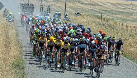 Stage 1 was mostly flat, and took the riders through some of the open farmlands of Northern California.