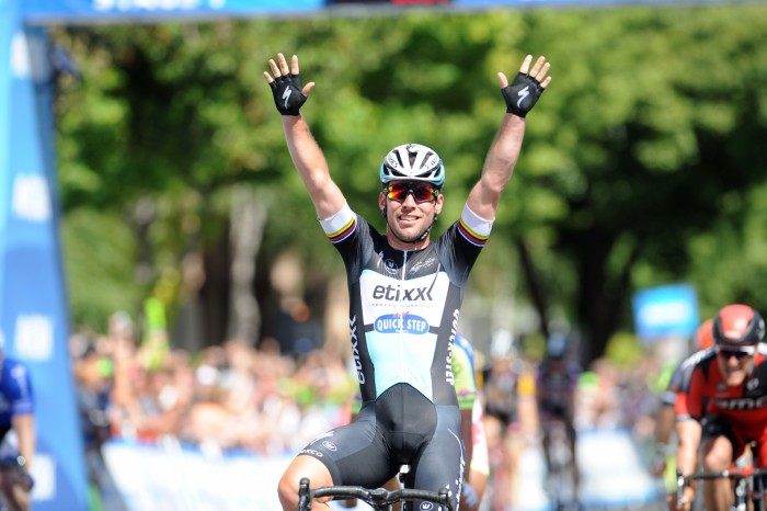 Former World Road Race Champion, Mark Cavendish, bested the field to take the victory on Stage 1.