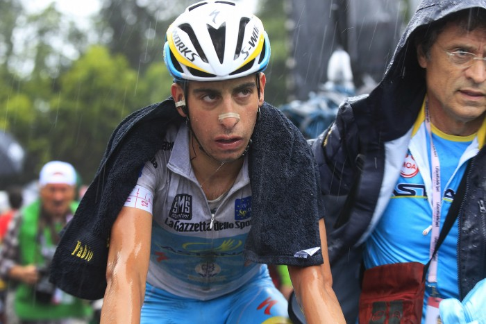 Astana's Fabio Aru struggled on the day's final climb, giving up 14 seconds to GC leader Alberto Contador. The young Italian sits in second place in the GC standings, 17 seconds behind the Spaniard.