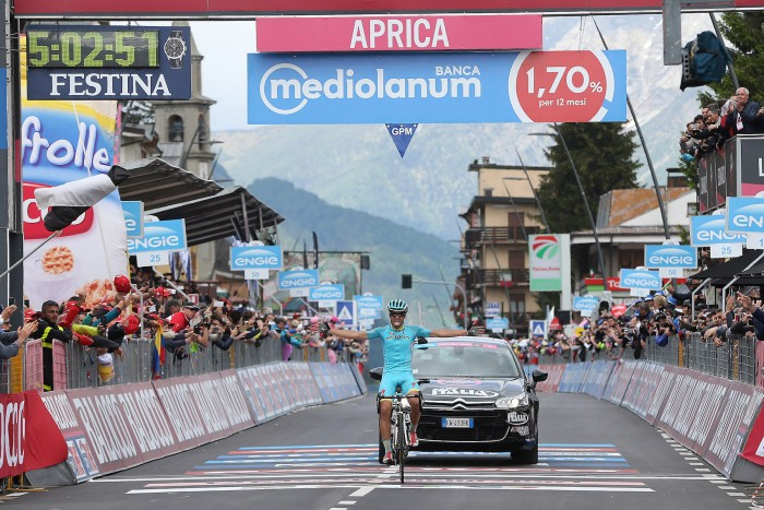 Landa was all smiles as he crossed the finish line on Stage 16.