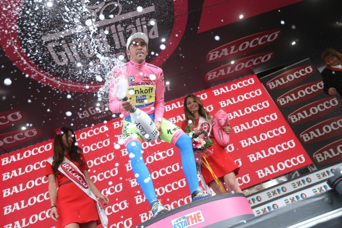 Get used to this... Alberto Contador is firmly in the driver's seat to win this year's Giro d'Italia.