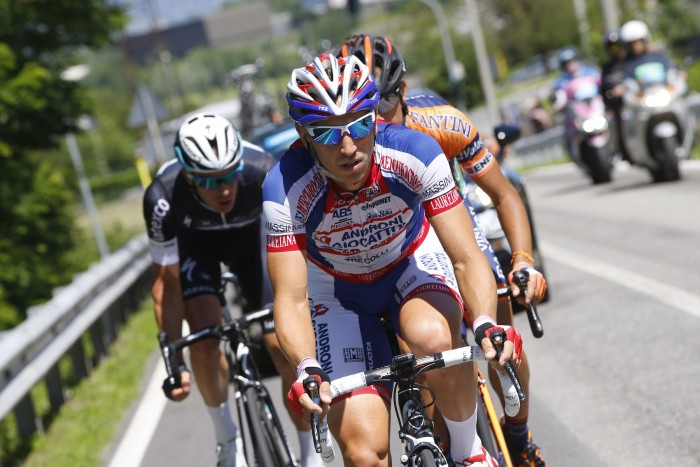 Marco Bandiera of the Androni squad broke away from the field at the very beginning of the stage, and was joined by compatriot Giacomo Berlato and Belgian Iljo Keisse.