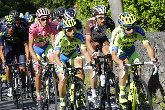 The Tinkoff squad was tasked with protecting race leader and team captain, Alberto Contador.