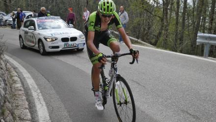Giro del Trentino 2015 - 3a tappa Ala - Fierozzo Val dei Mocheni 183,8 km - 22/04/2015 - Joseph Lloyd Dombrowski (Cannondale - Garmin) - foto Roberto Bettini/BettiniPhoto©2015