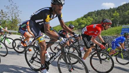 Giro del Trentino 2015 - 3a tappa Ala - Fierozzo Val dei Mocheni 183,8 km - 22/04/2015 - Daniel Teklehaimanot (MTN - Qhubeka) - foto Roberto Bettini/BettiniPhoto©2015