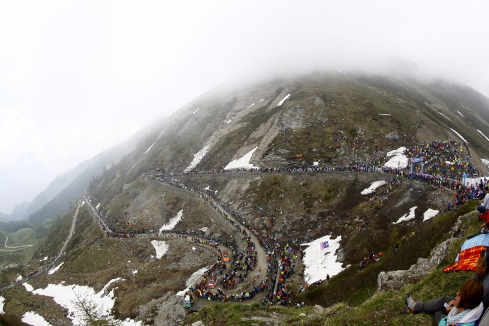 The views up near the top of the Colle delle Finestre are simply stunning.