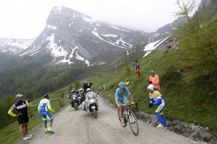 Astana's Mikel Landa races up the Colle delle Finestre.