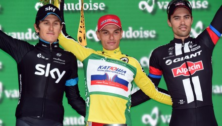 Tour de Suisse 2015 - 8a tappa Bern - Bern 164.6 km - 20/06/2015 - Simon Spilak (Katusha) - Geraint Thomas (Team Sky) - Tom Dumoulin (Giant - Alpecin) - foto Vincent Kalut/PN/BettiniPhoto©2015
