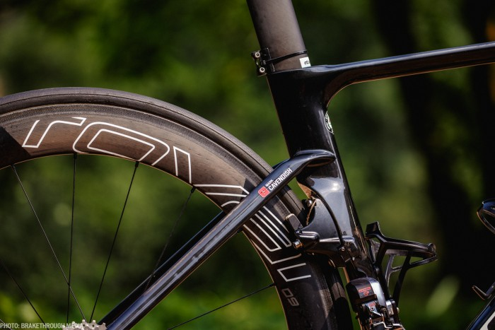 The new Venge features seatstays that are positioned very low on the seat tube. Photo: Iri Greco / BrakeThrough Media