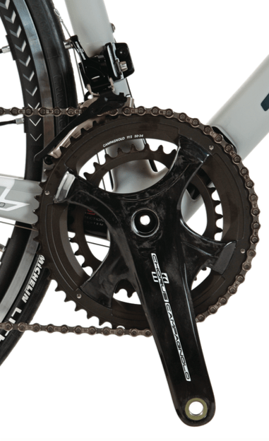 The new Campagnolo Chorus crankset is now equipped with the adaptable four-arm spider design.
