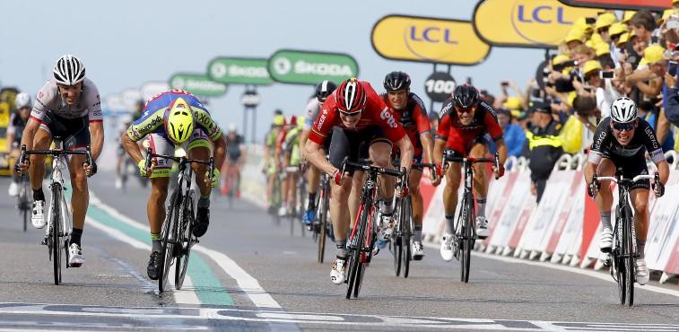 Tour de France 2015 - 102a Edizione - 2a tappa Utrecht - Zelande 166 km - 05/07/2015 - Andre Greipel (Lotto Soudal) - Peter Sagan (Tinkoff - Saxo) - Fabian Cancellara (Trek Factory Racing) - foto Luca Bettini/BettiniPhoto©2015
