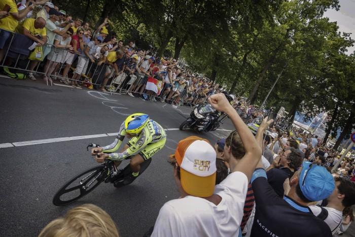 Tour de France 2015 - 102a Edizione - 1a tappa Utrecht - Utrecht 13.8 km - 04/07/2015 - Alberto Contador (Tinkoff - Saxo) - foto Gert Bonestro/CV/BettiniPhoto©2015