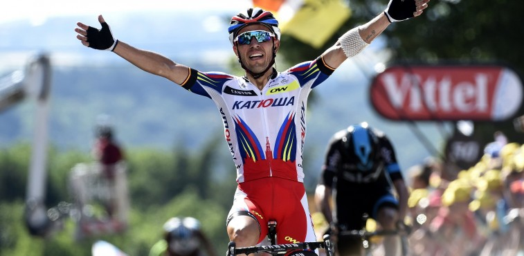 Rodriguez wins Stage 3 of the Tour de France.