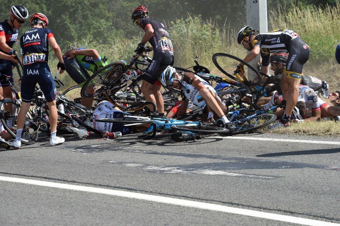 Tour de France 2015 - 102a Edizione - 3a tappa Anvers - Huy 159.5 km - 06/07/2015 - Caduta - foto Graham Watson/BettiniPhoto©2015
