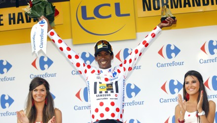 On a happier note, MTN-Qhubeka's Daniel Teklehaimanot became the first ever African rider to wear the polka dot jersey as the leader in the King of the Mountains competition after being in the breakaway all day long and collecting several points.