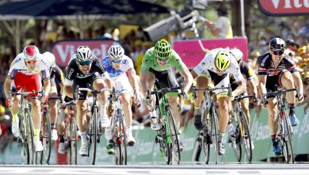 Tour de France 2015 - 102a Edizione - 7a tappa Livarot - Fougeres 190.5 km - 10/07/2015 - Alexander Kristoff (Katusha) - Mark Cavendish (Etixx - Quick Step) - Andre Greipel (Lotto Soudal) - Peter Sagan (Tinkoff - Saxo) -John Degenkolb (Giant - Alpecin) - foto Luca Bettini/BettiniPhoto©2015