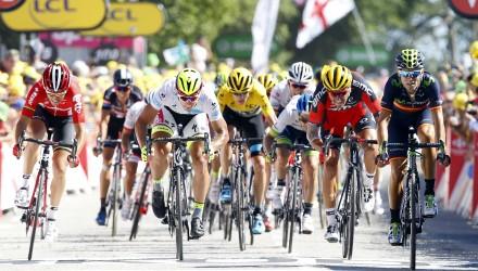 Tour de France 2015 - 102a Edizione - 8a tappa Rennes - Mur de Bretagne 181.5 km - 11/07/2015 - Tony Gallopin (Lotto Soudal) - Peter Sagan (Tinkoff - Saxo) - Greg Van Avermaet (BMC) - Alejandro Valverde (Movistar) - foto Luca Bettini/BettiniPhoto©2015