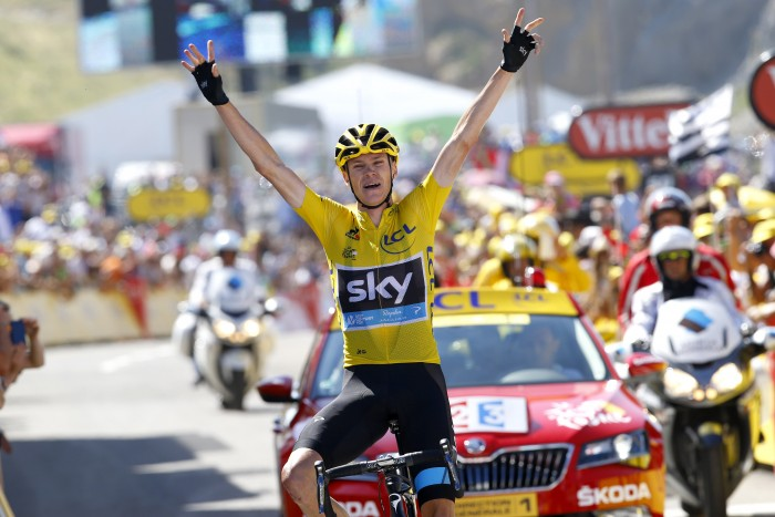 There was no stopping Chris Froome on Stage 10 as the Sky rider rolled to victory.