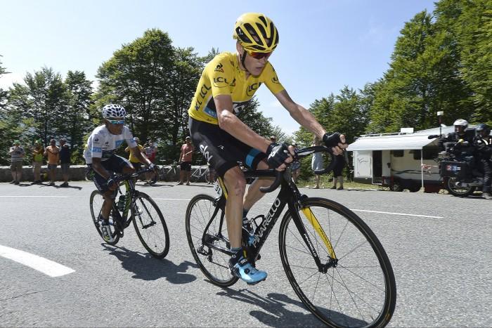 Tour de France 2015 - 102a Edizione - 10a tappa Tarbes to La Pierre-Saint-Martin 167 km - 14/07/2015 - Christopher Froome (Team Sky) - Nairo Quintana (Movistar) - foto PN/BettiniPhoto©2015
