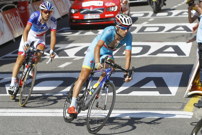 Astana's Vinceno Nibali lost even more time on Chris Froome and the other GC contenders on Stage 11.