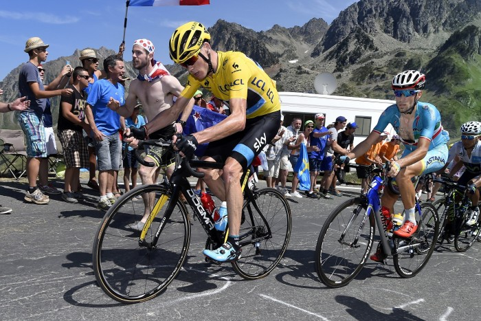 Chris Froome put in plenty of work on Stage 11 to defend his yellow jersey.
