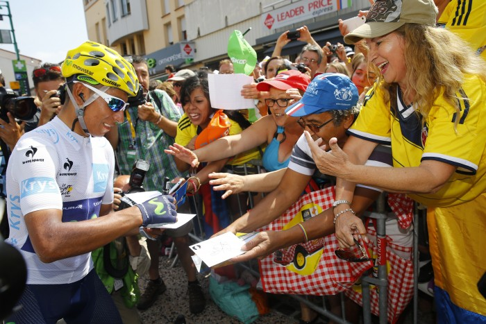 Tour de France 2015 - 102a Edizione - 13a tappa Muret - Rodez 198.5 km- 17/07/2015 - Nairo Quintana (Movistar) - foto Luca Bettini/BettiniPhoto©2015
