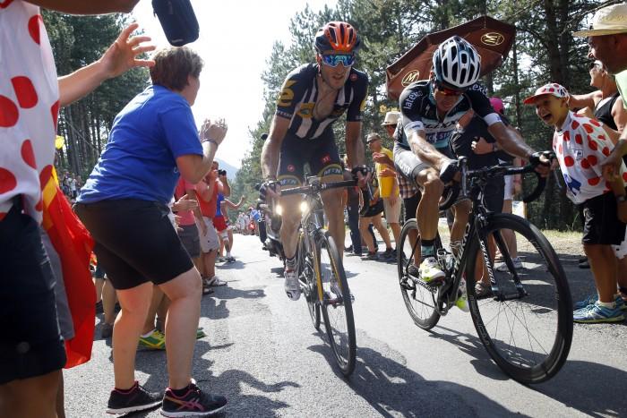 Tour de France 2015 - 102a Edizione - 14a tappa Rodez - Mende 178.5 km- 18/07/2015 - Stephen Cummings (MTN - Qhubeka) - Rigoberto Uran (Etixx - Quick Step) - foto Luca Bettini/BettiniPhoto©2015