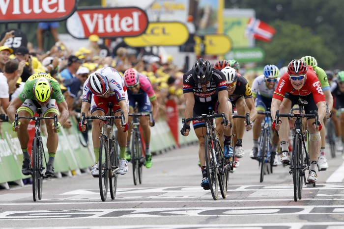 Stage 15 came down to a drag race between Andre Greipel, John Degenkolb, Peter Sagan and Alexander Kristoff.
