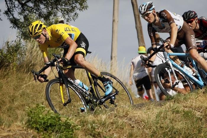 Tour de France 2015 - 102a Edizione - 16a tappa Bourg de Peage - Gap 201 km- 20/07/2015 - Christopher Froome (Team Sky) - Romain Bardet (AG2R - La Mondiale) - foto Dion Kerckhoffs/CV/BettiniPhoto©2015