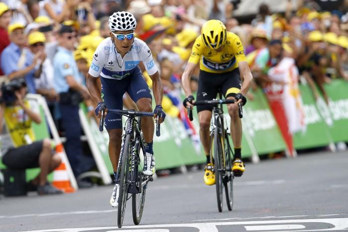 Tour de France 2015 - 102a Edizione - 17a tappa Digne les Bains - Pra Loup 161 km - 22/07/2015 - Nairo Quintana (Movistar) - Christopher Froome (Team Sky) - foto Luca Bettini/BettiniPhoto©2015