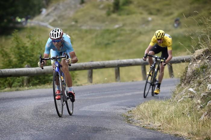 Tour de France 2015 - 102a Edizione - 17a tappa Digne les Bains - Pra Loup 161 km - 22/07/2015 - Nibali Vincenzo (Team Astana) - Froome Christopher (Team Sky) - foto Vincent Kalut/PN/BettiniPhoto©2015