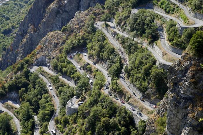 Tour de France 2015 - 102a Edizione - 18a tappa Gap - Saint Jean de Maurienne 186.5 km - 23/07/2015 - Veduta - Lacets de Montvernier - foto Luca Bettini/BettiniPhoto©2015