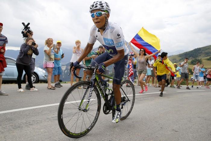 Tour de France 2015 - 102a Edizione - 19a tappa Saint Jean de Maurienne - La Toussuire 138 km - 24/07/2015 - Nairo Quintana (Movistar) - foto Luca Bettini/BettiniPhoto©2015