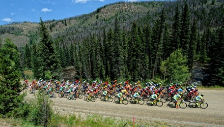 Stage 2 saw the riders take on some unpaved (and dare we say, gravel?!) sections of road on their way to the finish at Arapahoe Basin.