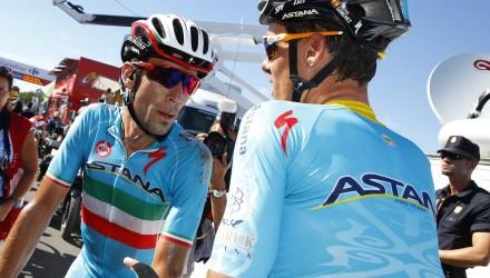 Vuelta Spagna 2015 - 70a Edizione - 2a tappa Alhaurin de la Torre - Caminito del Rey 158.7 km - 23/08/2015 - Vincenzo Nibali - Luis Leon Sanchez (Astana) - foto Luca Bettini/BettiniPhoto©2015