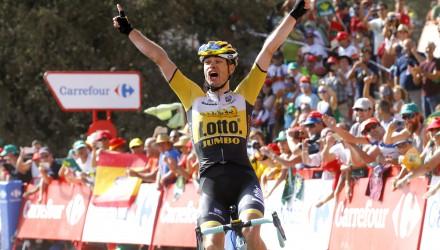 Vuelta Spagna 2015 - 70a Edizione - 7a tappa Jodar - La Alpujarra 191.1 km - 28/08/2015 - Bert Jan Lindeman (Lotto NL - Jumbo) - foto Luca Bettini/BettiniPhoto©2015