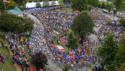 Campionati del Mondo Richmond 2015 - Road World Championship 2015 - Strada Uomini Elite 261,4 km - 27/09/2015 - Veduta - Libby Hill - foto Luca Bettini/BettiniPhoto©2015