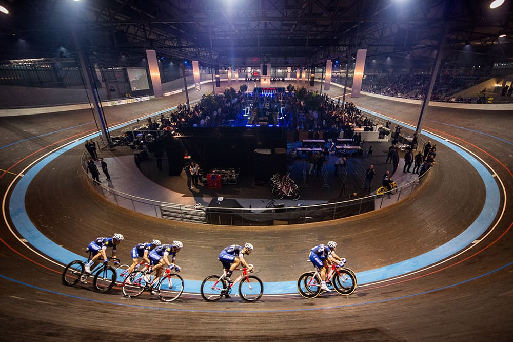 Team Etixx-Quick-Step's Track Roll-Out